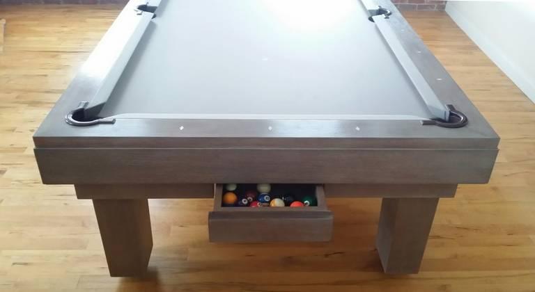 Custom Pool Table Designed by Thomas O'Brien of Aero Studios For Sale 2