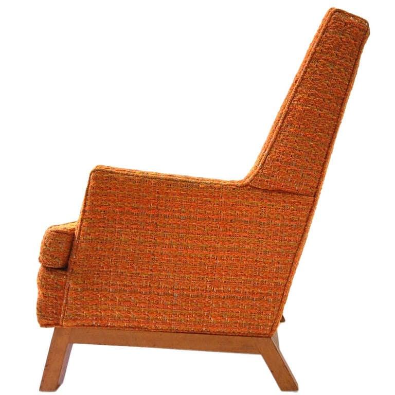 High Back Lounge Chair by T H Robsjohn Gibbings at 1stdibs