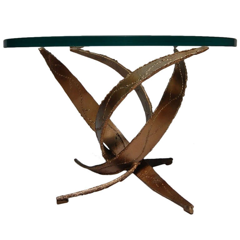 Silas Seandel Brutalist occasional table, 1970s