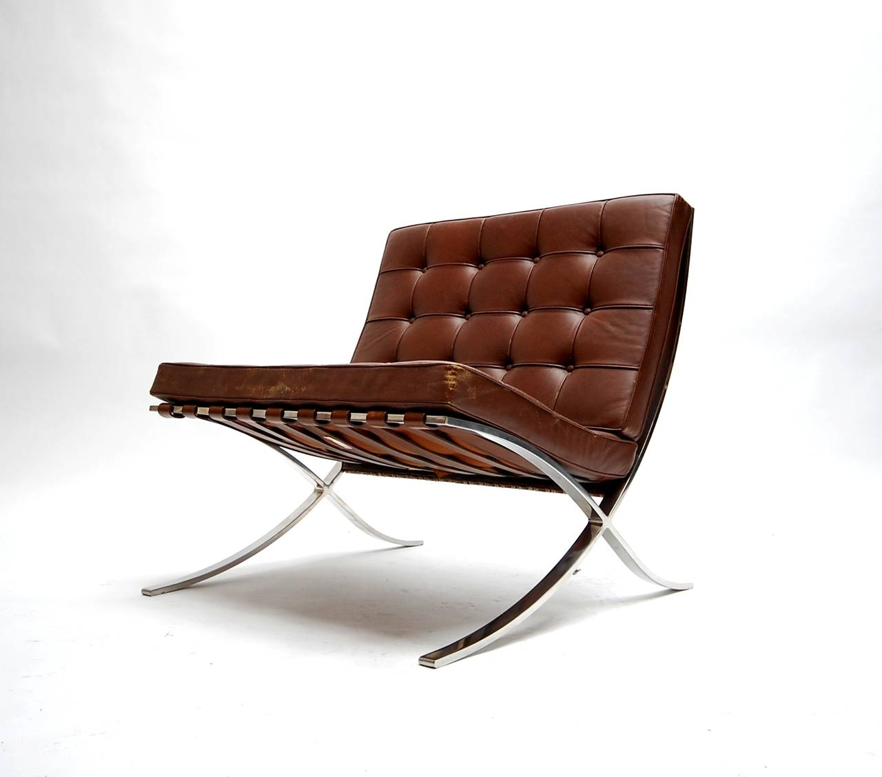 Exceptional Pair of 1960s Barcelona Lounge Chairs by Knoll at 1stdibs