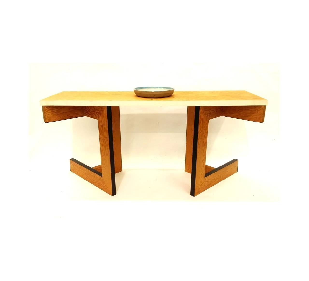 Ebony Console Table or Desk by Eric Freeman For Sale
