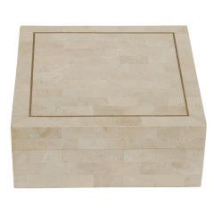Large Maitland Smith Tessellated Marble Box
