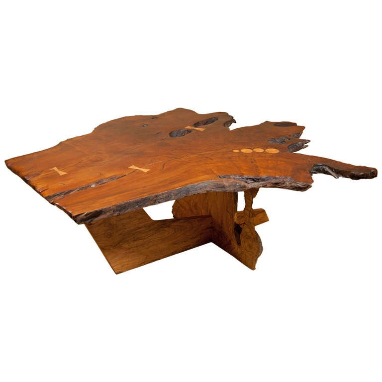 Redwood Coffee Table At 1stdibs