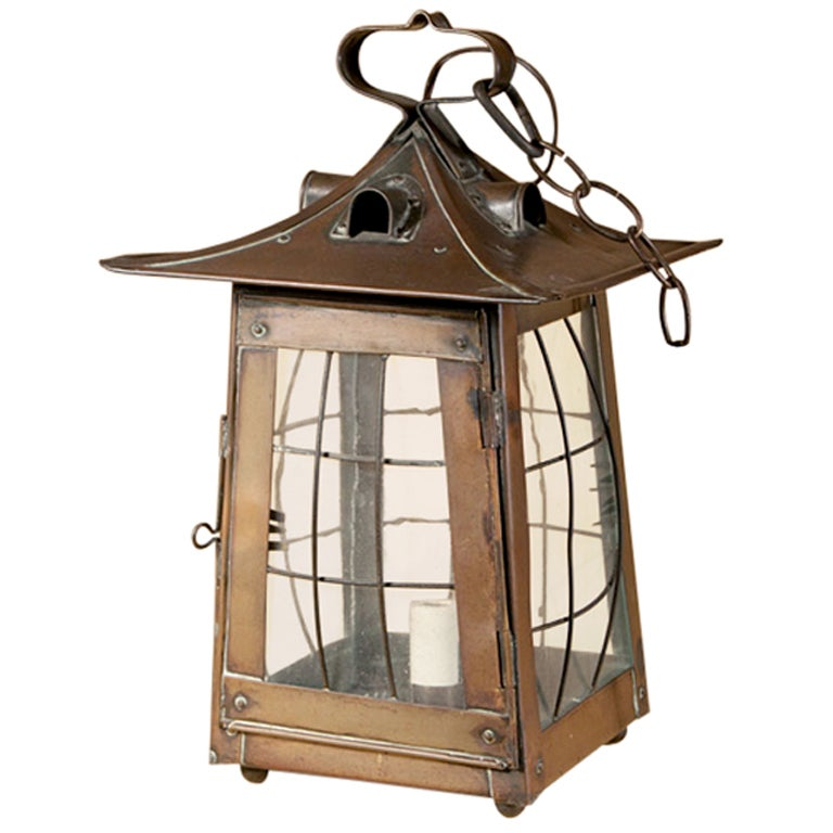 Arts And Crafts Copper Lantern At 1stdibs