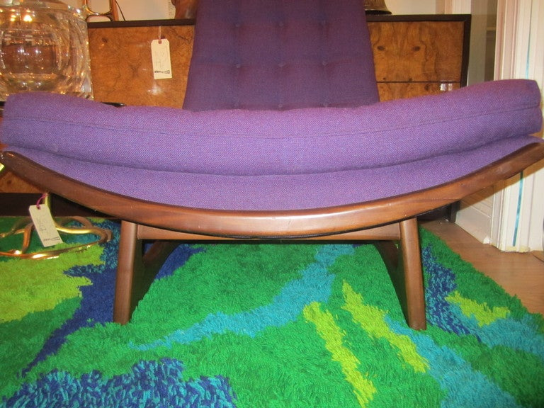 Mid-Century Modern Adrian Pearsall Sculptural Walnut High Back Scoop Chair Mid-century