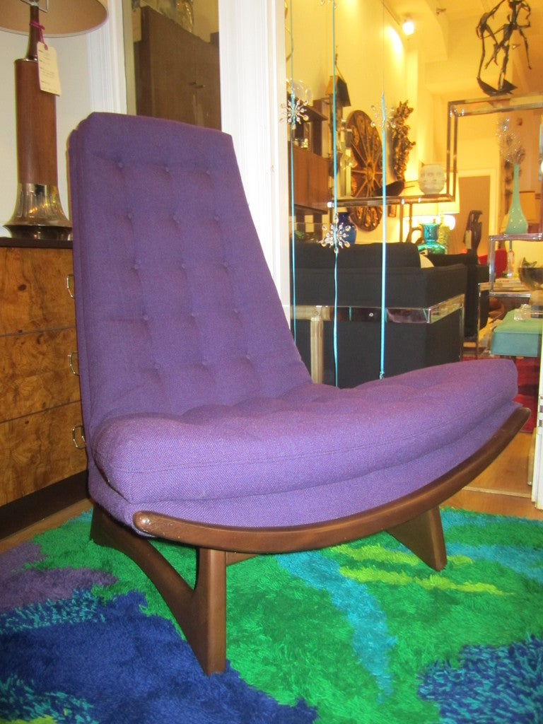 Adrian Pearsall Sculptural Walnut High Back Scoop Chair Mid-century 1