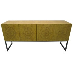 Dramatic Olivewood Milo Baughman for Thayer Coggin Credenza Mid-Century Modern