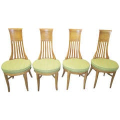 4 American Modern Tomlinson Sophisticate Tall Back Dining Chairs Mid-century
