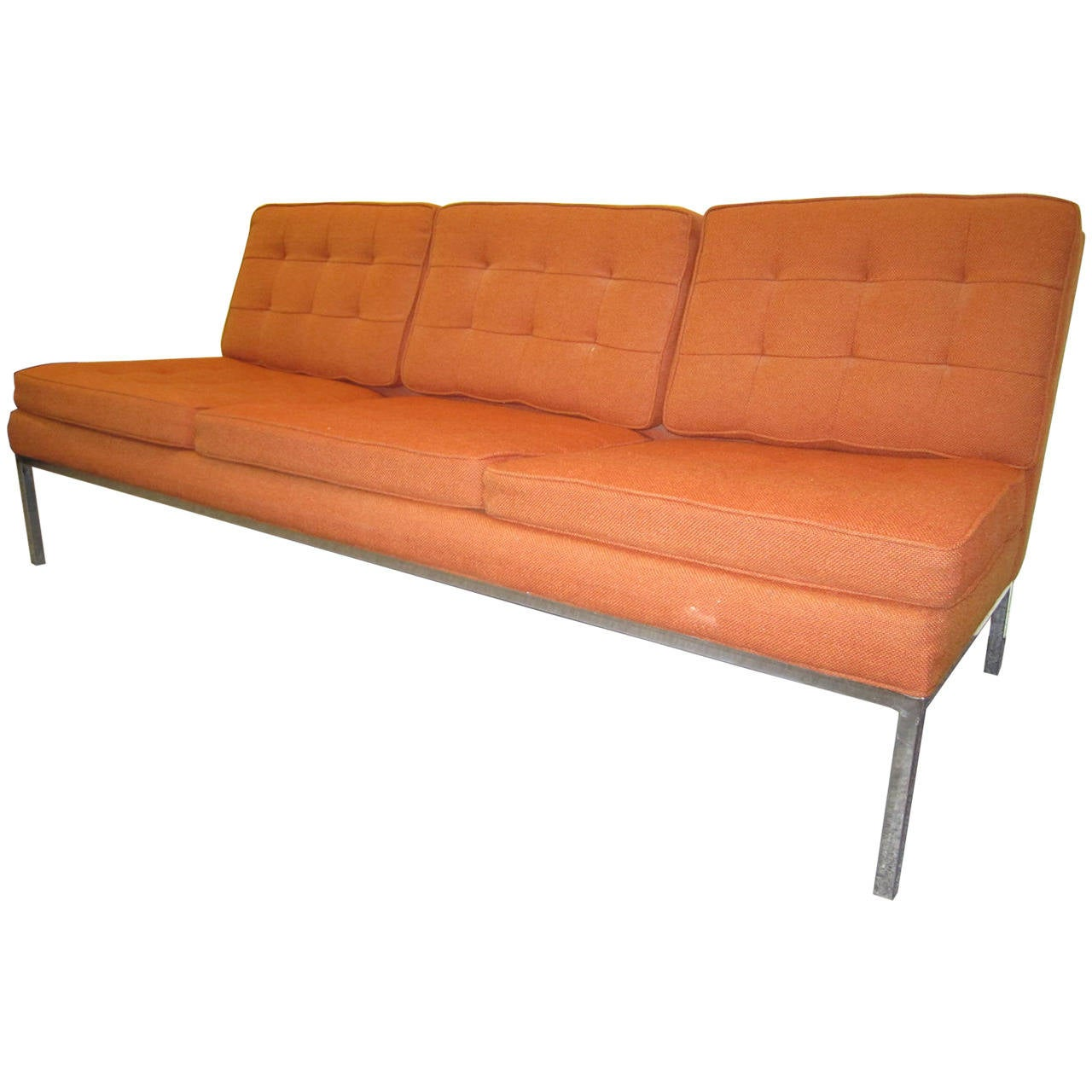Gorgeous Milo Baughman Signed Armless Sofa Mid Century Modern For