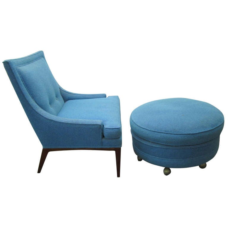 Fabulous Harvey Probber Slipper Chair With Ottoman Mid