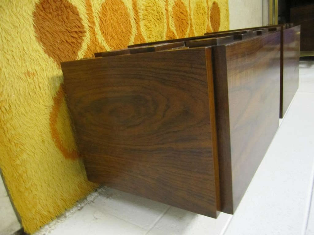 Two Paul Evans Inspired Brutalist Mosaic Night Stands from Lane For Sale 2