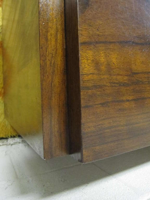 Walnut Two Paul Evans Inspired Brutalist Mosaic Night Stands from Lane For Sale