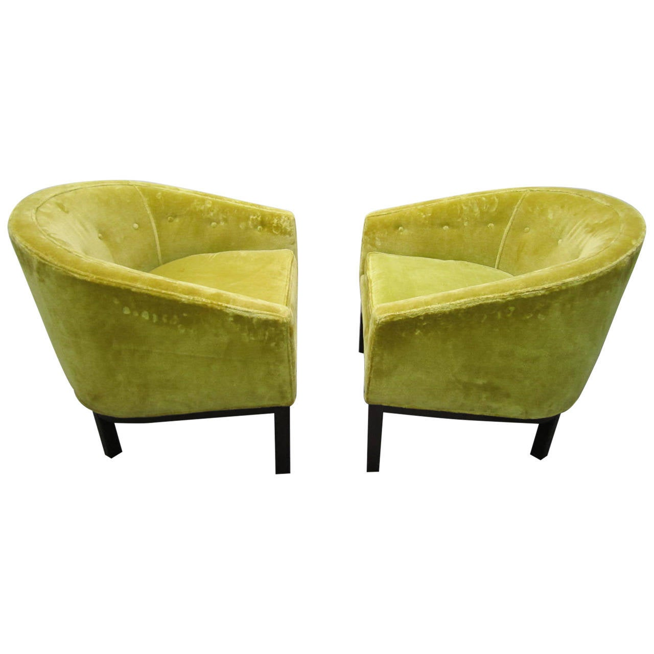 Fabulous Pair Harvey Probber Barrel Back Lounge Chairs Mid Century Modern 1