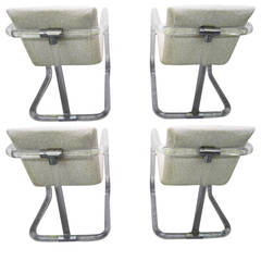 Set of 4 Lucite Dining/Game Chairs by Lion in Frost Mid-century Modern