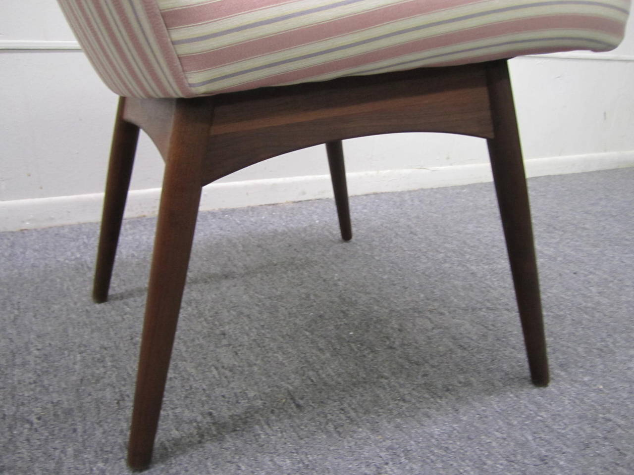 Four Adrian Pearsall High Back Dining Chairs by Craft Associates, Mid-Century For Sale 1