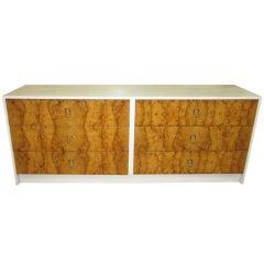 Gorgeous Milo Baughman Olive Wood Credenza Mid-century Modern