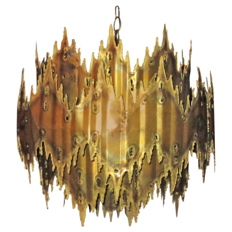 Outrageous Brutalist Lamp by Harry Weese, Mid-Century Modern