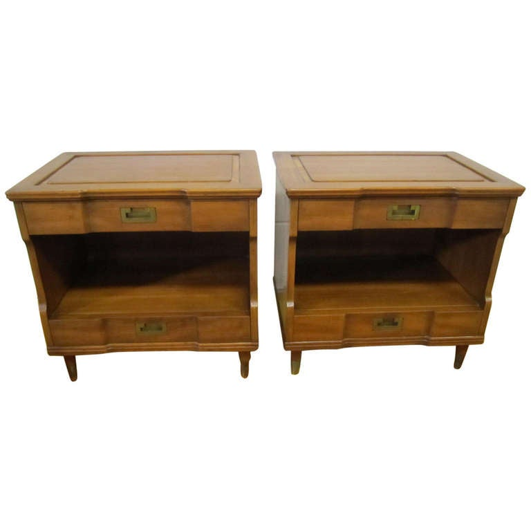 Fantastic Pair Of John Widdicomb Asian Modern Night Stands Mid Century At 1stdibs