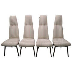 Four Adrian Pearsall High Back Dining Chairs by Craft Associates, Mid-Century