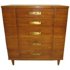 Gorgeous John Widdicomb Asian Influenced Tall Dresser Mid-century Modern