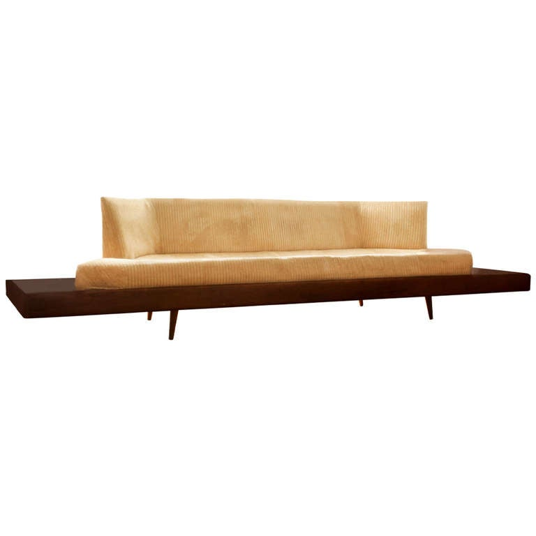 Spectacular rare adrian pearsall geometric platform sofa Mid century couch