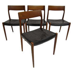 Set of 4 J L Moller Danish Chairs