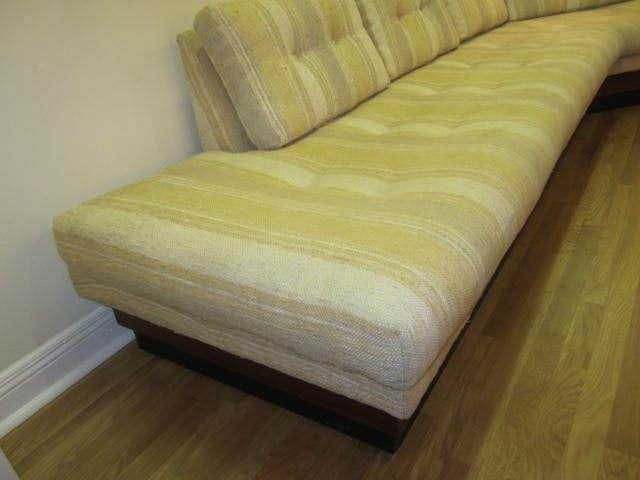 Mid-20th Century Adrian Pearsall Boomerang Platform Sofa Mid-century For Sale