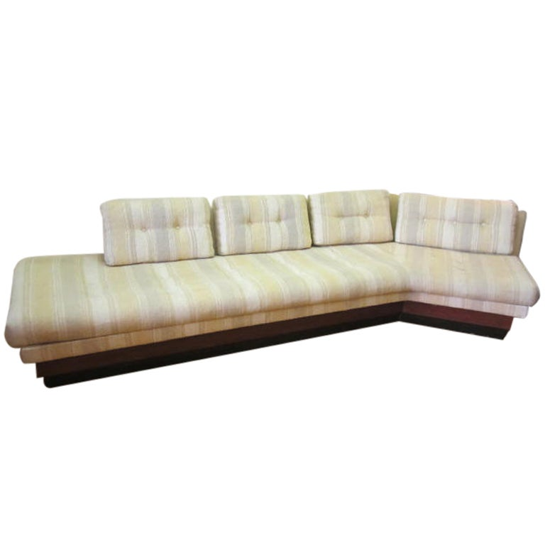 Adrian Pearsall Boomerang Platform Sofa Mid-century For Sale