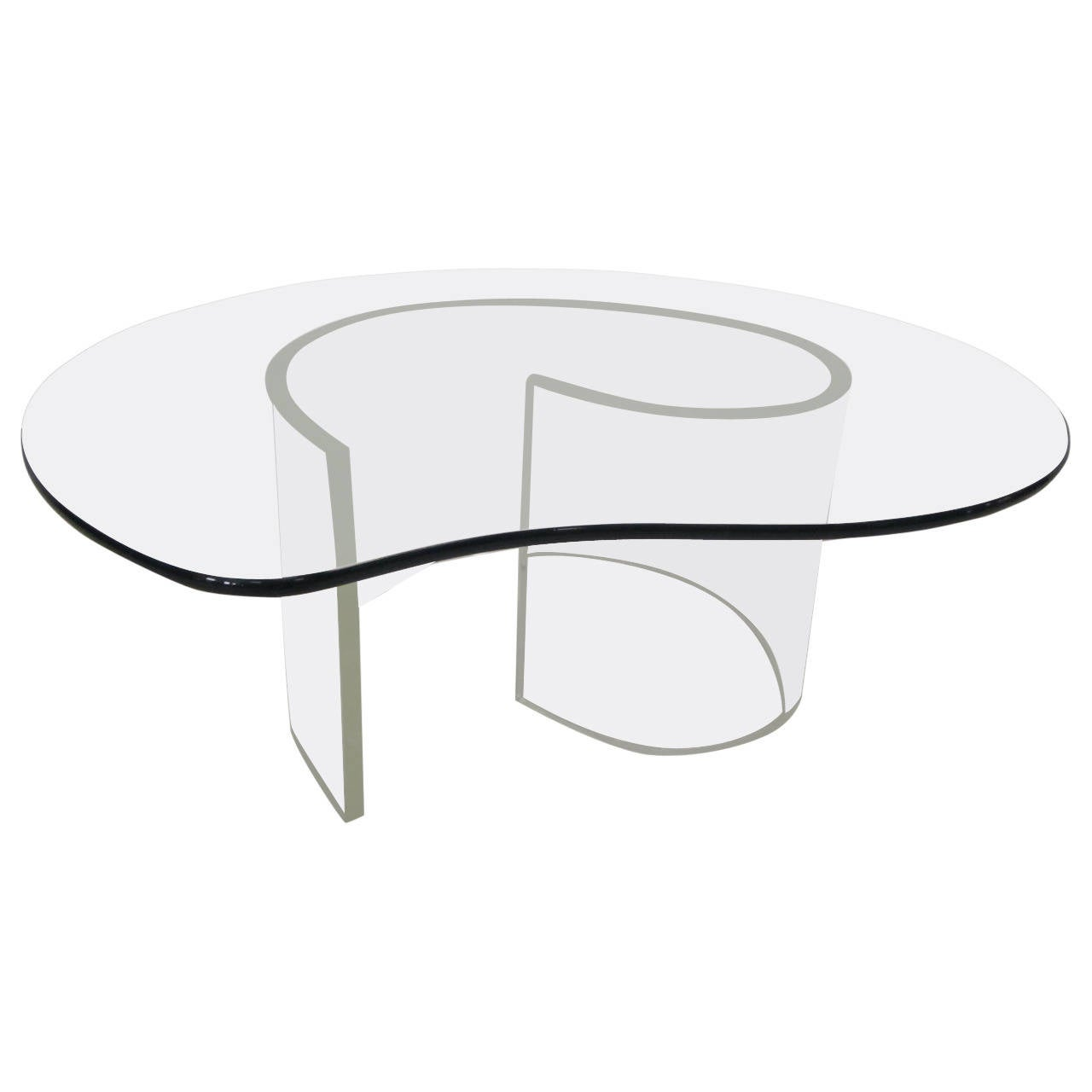 Hollywood Regency Kagan Style Lucite Snail Coffee Table, Mid Century Modern  For Sale