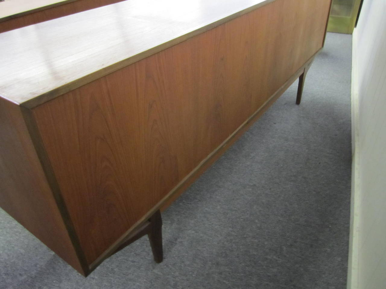 Danish Floating Credenza : Lovely teak danish credenza with floating hutch room divider
