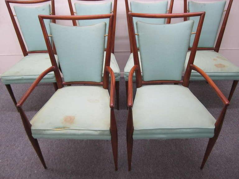 Set of 6 J Stuart Clingman Dining Chairs for Widdicomb  : IMG3961l from 1stdibs.com size 768 x 576 jpeg 40kB
