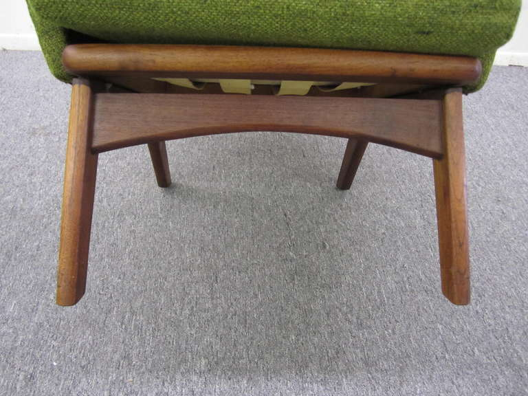 Upholstery Pair of Adrian Pearsall High Back Chairs Midcentury Danish Modern