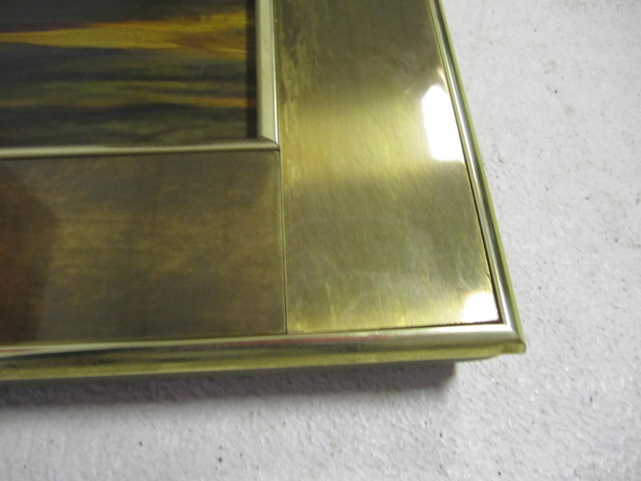 Acid Etched Bernhard Rohne for Mastercraft Mirror Mid-Century Modern In Good Condition For Sale In Pemberton, NJ