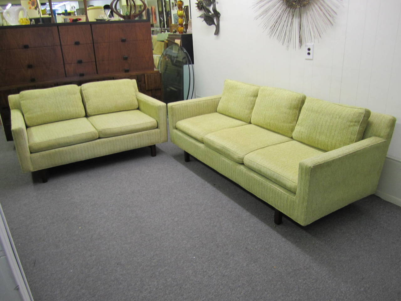 Mid-Century Modern Two-Seater Loveseat Sofa by Edward ...