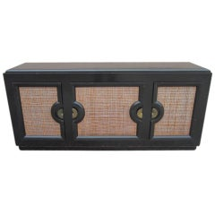 Paul Laszlo Ebonized Credenza For Brown Saltman