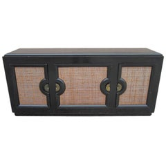 Paul Laszlo Style Ebonized Credenza Made by Stewartstown Furniture Company