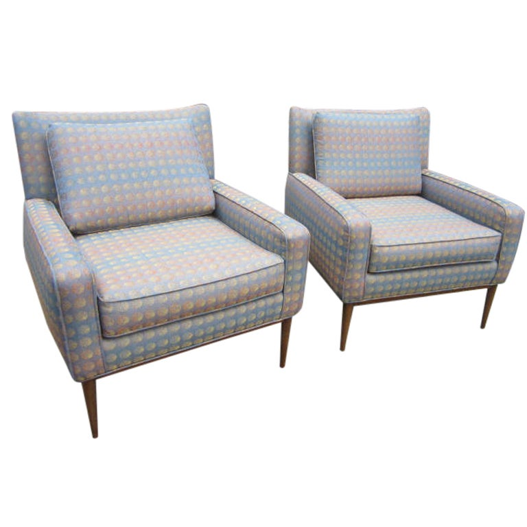 WONDERFUL PAIR OF PAUL MCCOBB 302 LOUNGE CHAIRS BY DIRECTIONAL