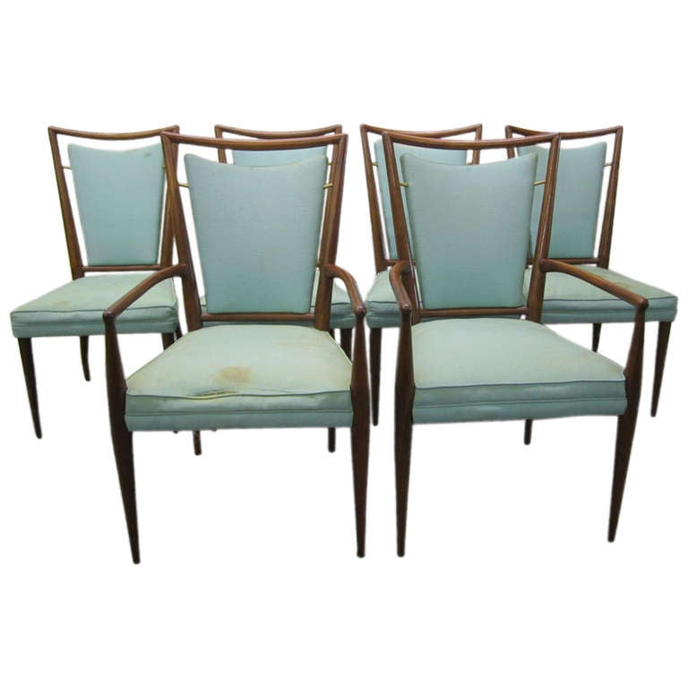 Set of 6 j stuart clingman dining chairs for widdicomb for Modern chairs for sale