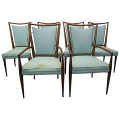 Set of 6 J. Stuart Clingman Dining Chairs for Widdicomb Mid-century Modern