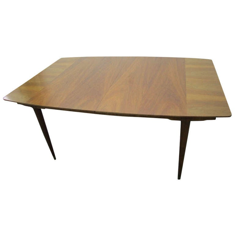 J Stuart Clingman For Widdicomb Walnut Dining Table Leaves Mid - Dining table with 3 leaves
