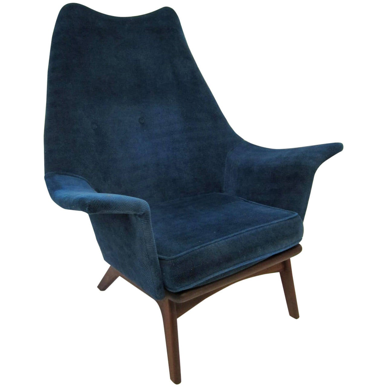 Excellent Adrian Pearsall Wingback Lounge Chair Mid