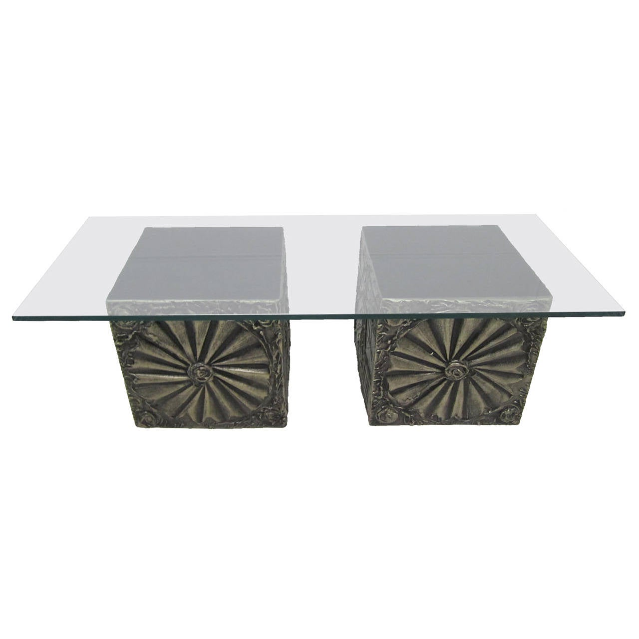 Adrian Pearsall Brutalist, Double Cube, Mid Century Modern Coffee Table 1