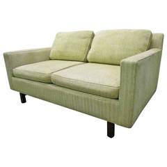 Mid-Century Modern Two-Seater Loveseat Sofa by Edward Wormley for Dunbar