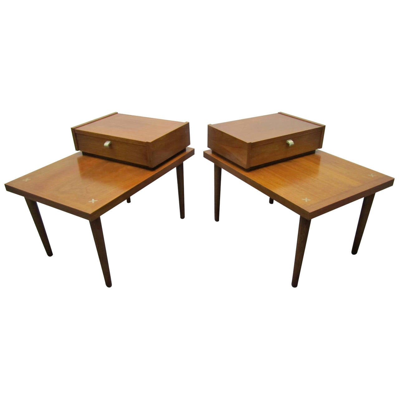 Handsome pair of american of martinsville mid century for Modern furniture table