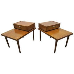 Handsome Pair of American of Martinsville, Mid-Century Modern End Tables