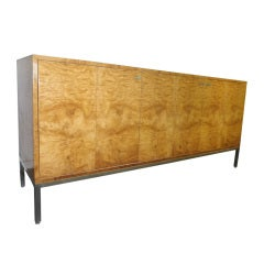 Milo Baughman Pace Collection Light Burled Wood Credenza Mid-century