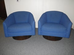 Harvey Probber Swivel Barrel Back Lounge Chairs Mid-century Modern
