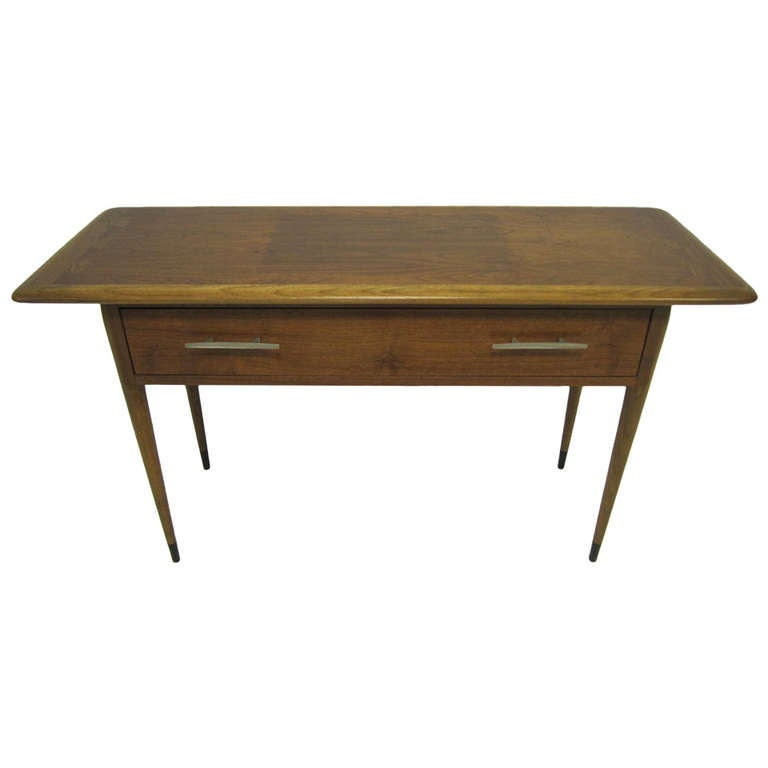 Rare Lovely Lane Acclaim Walnut Hall Console Table MidCentury