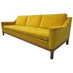 Rapturous Jens Risom Mid-Century Modern Tufted Slope Arm Sofa
