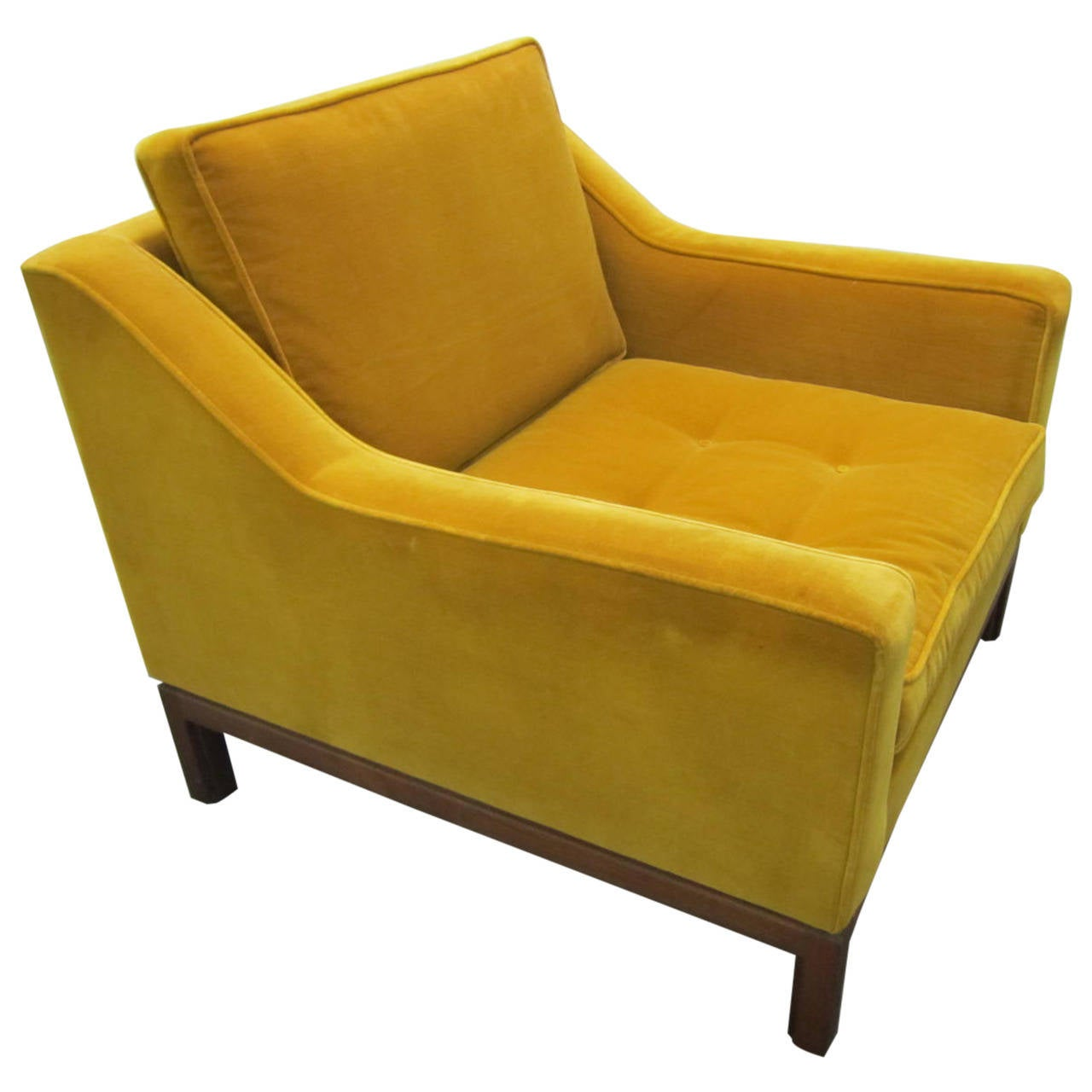 Striking jens risom tufted slope armchair mid century for Mid century modern armchairs